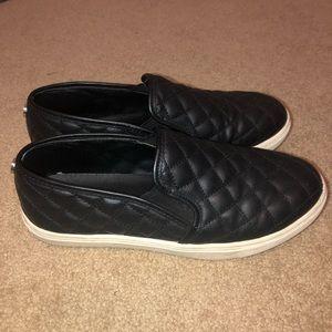 Black Steve Madden Slip Ons